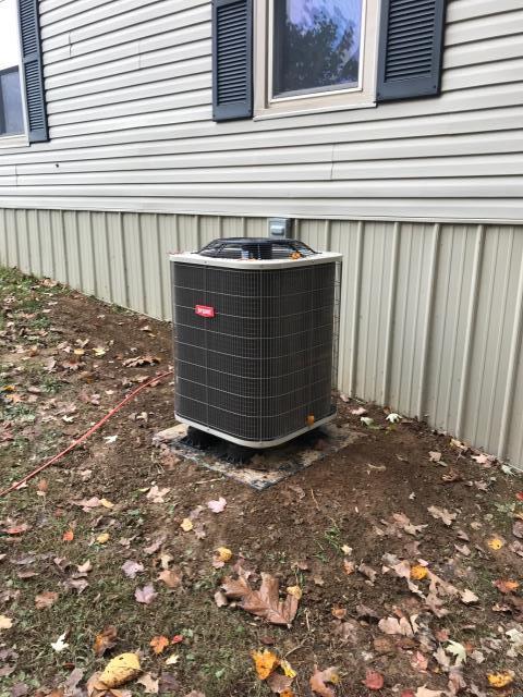 Scottsville, KY - Bryant BH14 Heat Pump replaced an old Nordyne Heat Pump system near Scottsville, KY.
