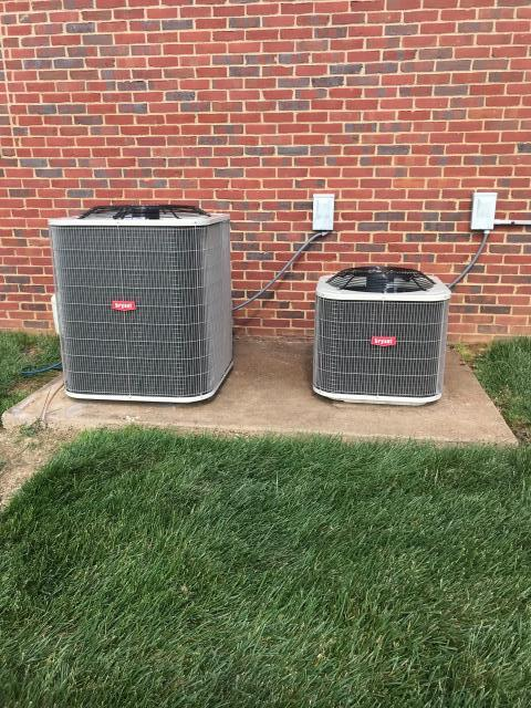 Bowling Green, KY - New Bryant Gas systems replacing Rheem Gas systems.  Includes two BA14 14.00 SEER Bryant Air Conditioners, a 926 Bryant Furnace 96% AFUE, Variable Speed Furnace in the Crawlspace, 800 Bryant Furnace 80% AFUE in the attic with an Energy Efficient motor.  All combined this will save the homeowner money on their utility bills and they will have less heating repairs in the winter and air conditioning repairs in the summer.  Hunters Crossing Subdivision, Bowling Green, KY.