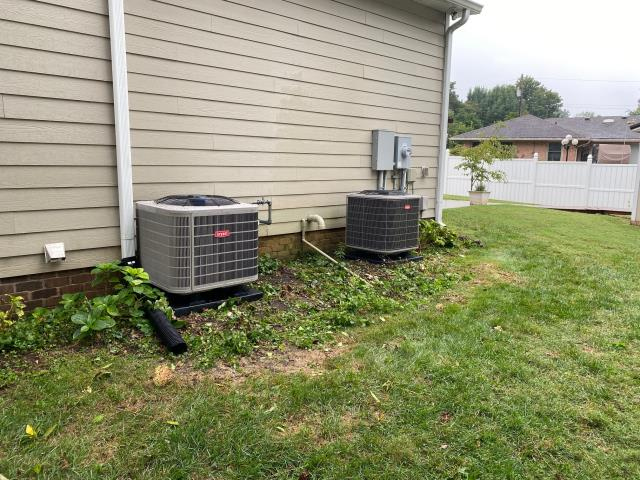 Bowling Green, KY - When you buy a home that is only a few years old and you have repeated trouble with the HVAC systems... You replace the Ameristar Units with 16 SEER Bryant HVAC systems for better reliability, performance, comfort, and years of trouble free service!  Air Conditioning Bowling Green, KY in 2021!  Neighborhood near WKU.