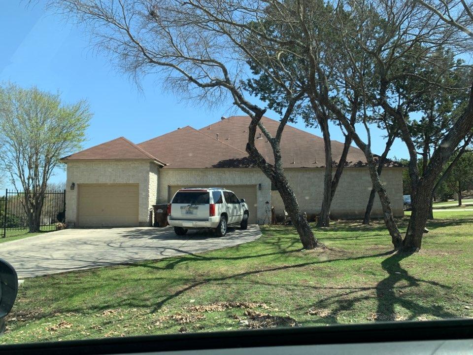 San Antonio, TX - Roof inspection hail damage. Atrium Roofing San Antonio Texas