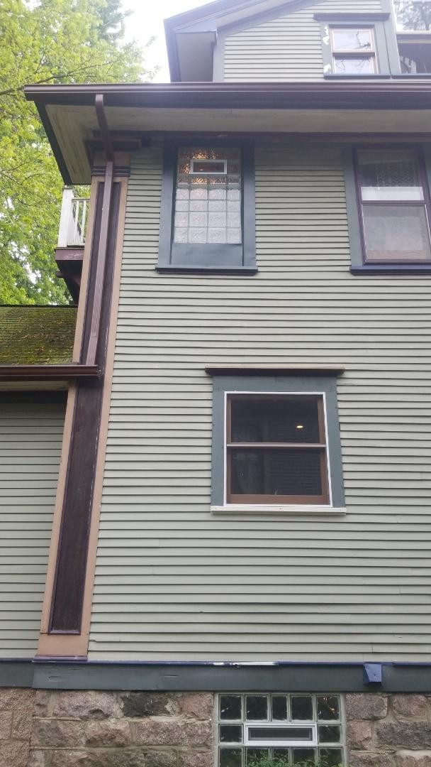 Wrap exterior of 3rd floor  bathroom window in aluminum