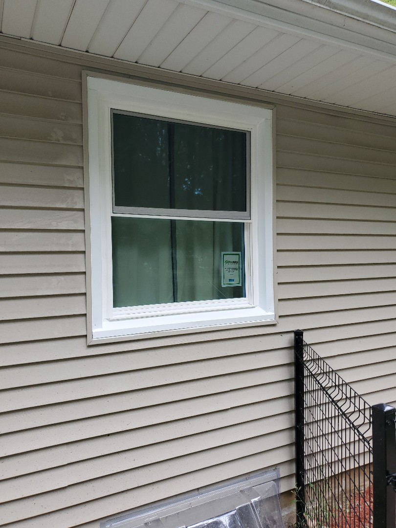 Kalamazoo, MI - Install two new energy efficient vinyl windows