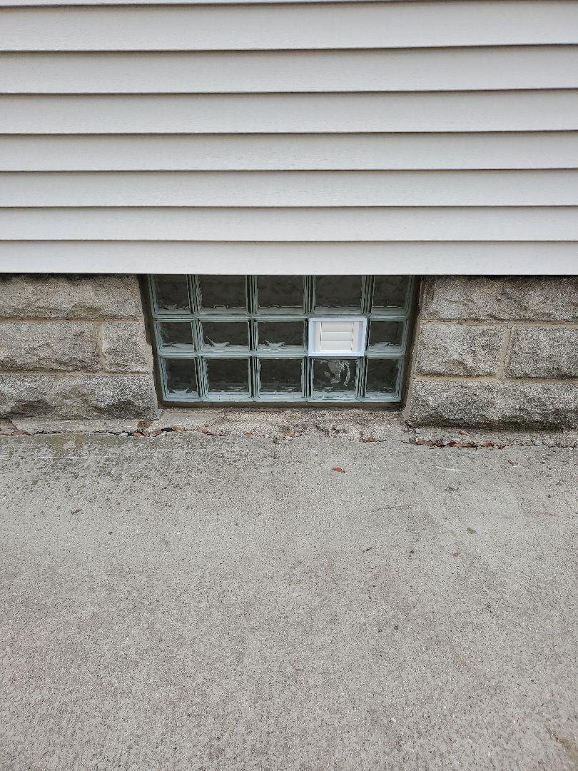 Grand Rapids, MI - Install new glass block window in basement