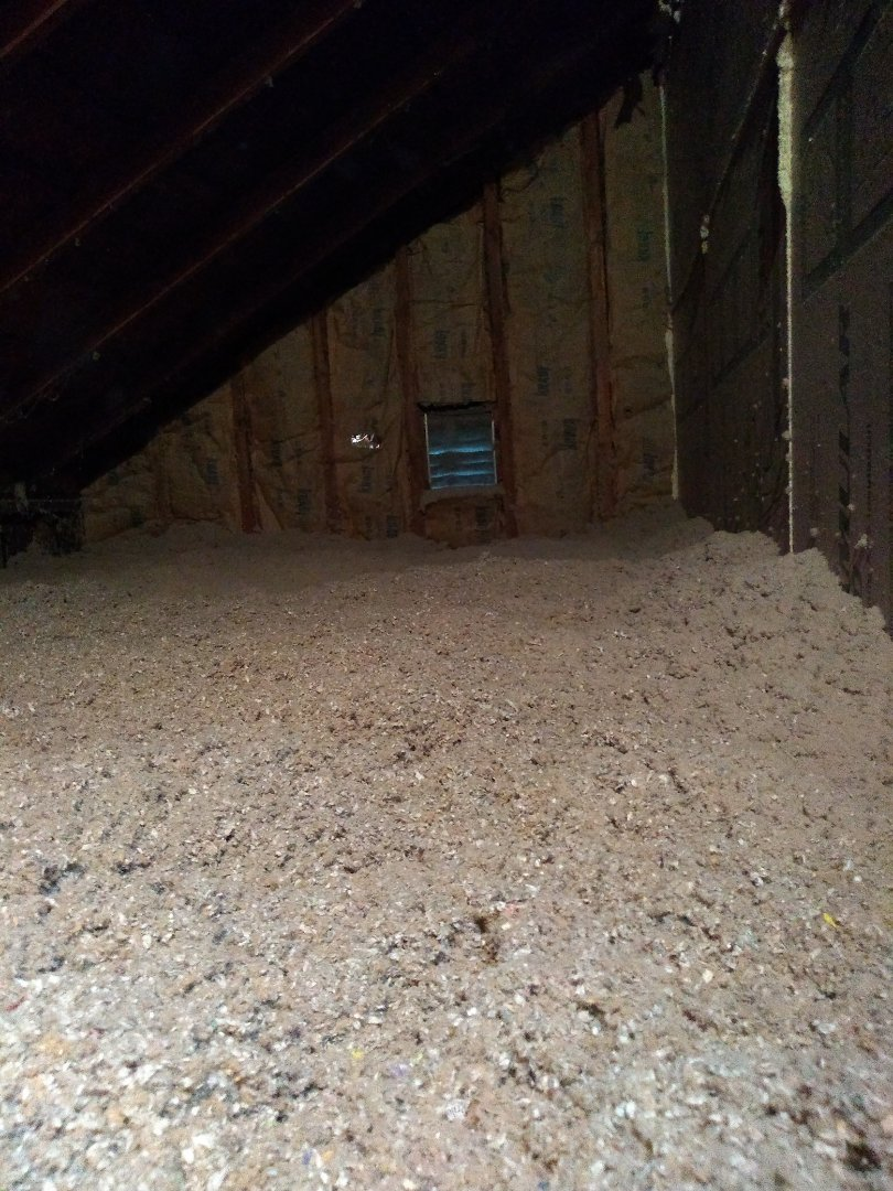 Holland, MI - We came here today to put new insulation in the attic and air seal it. We went down to the basement to spray the rim joist and put ecocell on the basement wall.