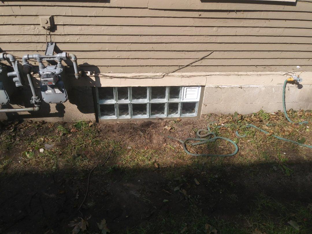 Grand Rapids, MI - Installed glass block basement windows