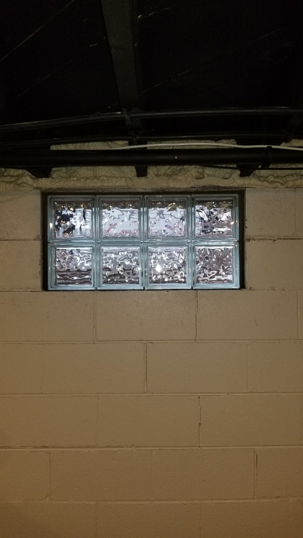 Holland, MI - Install Glass block windows in the basement