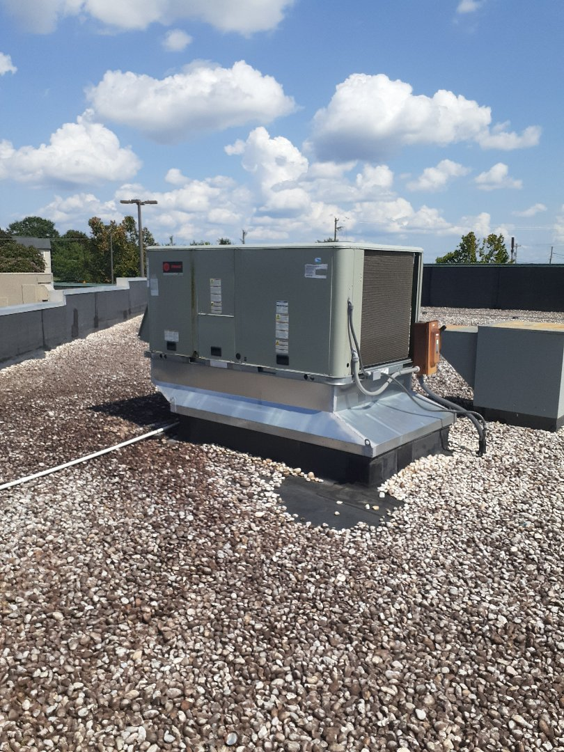 Charlotte, NC - Preventive maintenance performed with two Trane roof top units in University area, Charlotte.