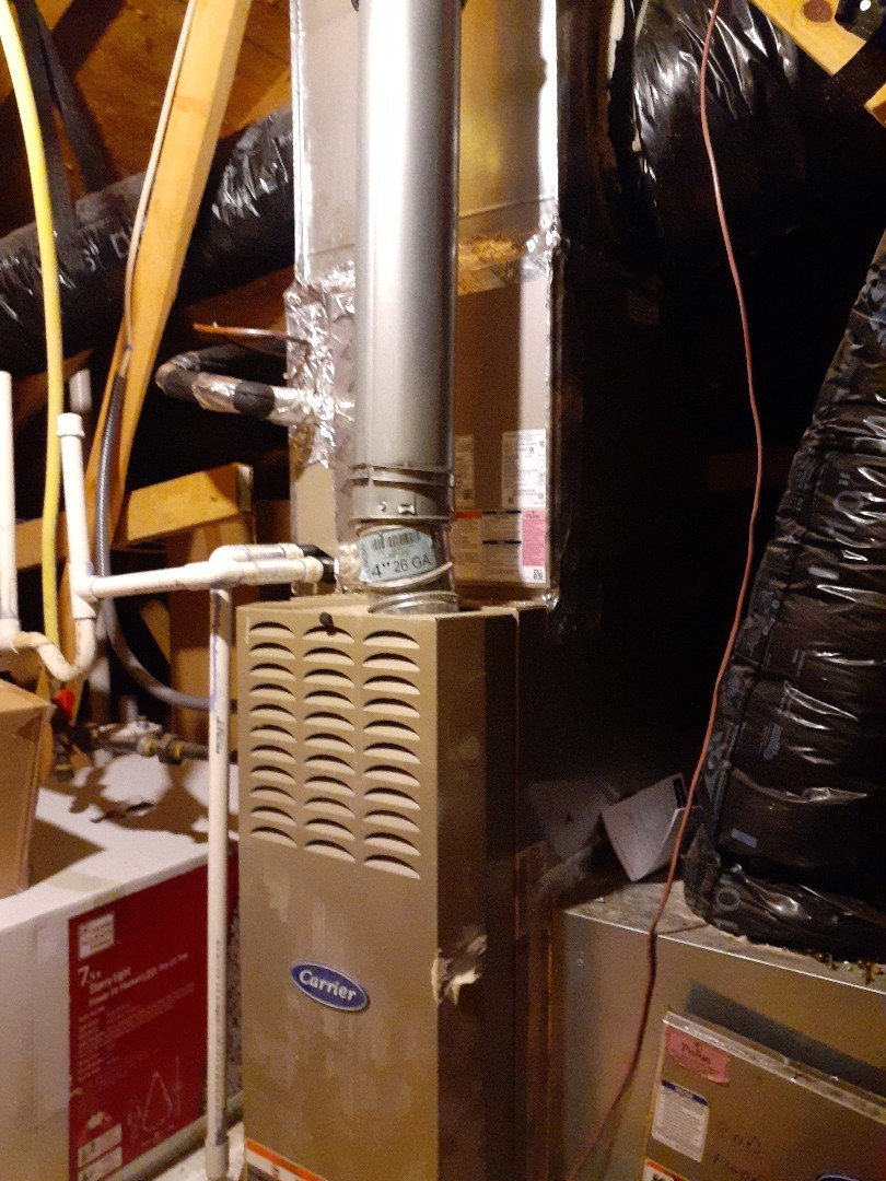 Waxhaw, NC - Repair a refrigerant leak at a Carrier air conditioning system in Waxhaw NC.