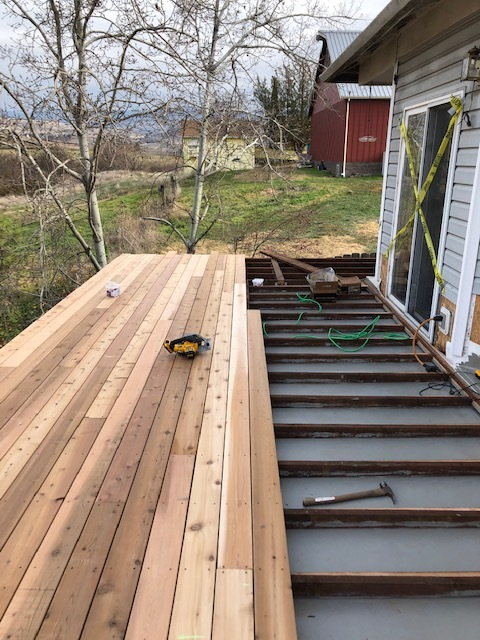 Ashland, OR - Checking in on the replacement deck that we are installing for this customer.