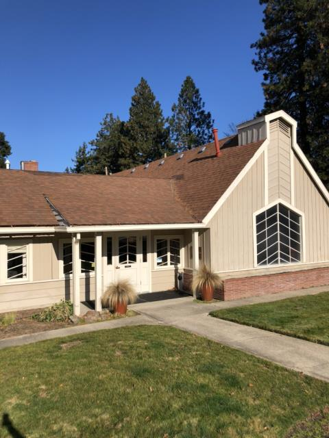 Ashland, OR - Getting ready to re-roof this business with GAF Timberline HD. It is a great mix of flat and composite shingles.