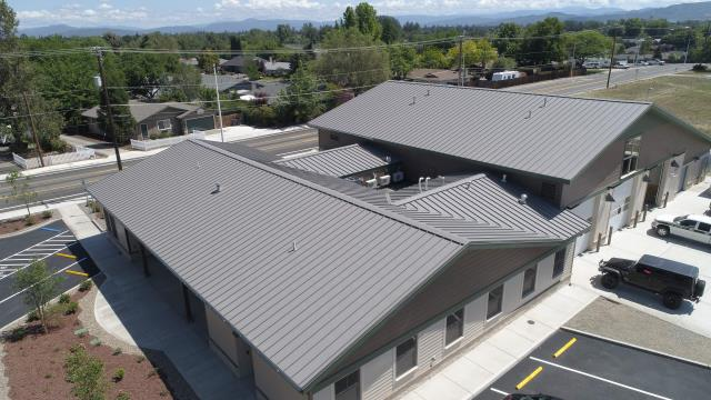 Central Point, OR - Just finished intalling a new Taylor Metal MS200 mechanically seamed metal roof for the new fire station in Central Point