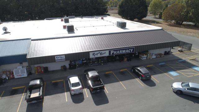 Rogue River, OR - Just completed the front deck re-roof on the Rogue River Pharmacy. We replaced the older, leaking, metal roof with new Taylor Metals Versa Span panel in the medium bronze. This gave the added facelift that the customer was after.