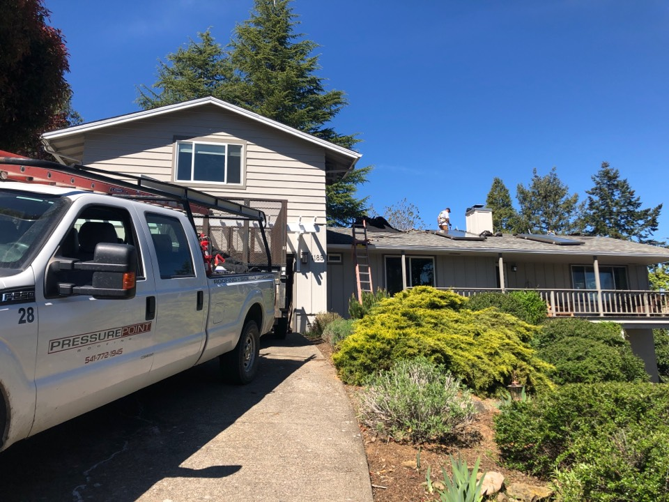Ashland, OR - Tear off day! Getting ready to install a new Owens Corning Duration shingle on this roof. This paired with a Platinum warranty will give this customer peace of mind for decades to come
