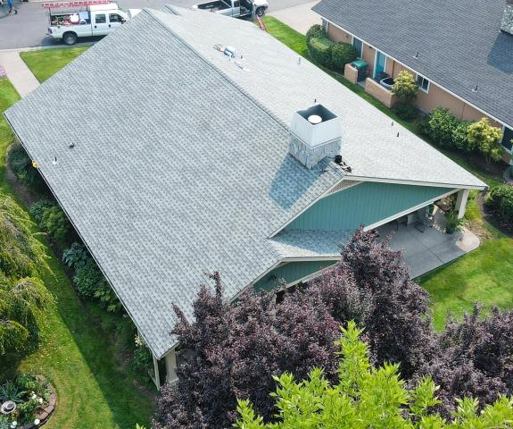Medford, OR - Roof Inspection for a recent roof we completed with GAF Timberline HDZ Shingles (Slate)