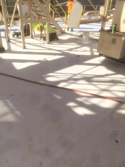 Medford, OR - Few pics installing the cover board and the Duro-Last PVC single ply fleeceback membrane.