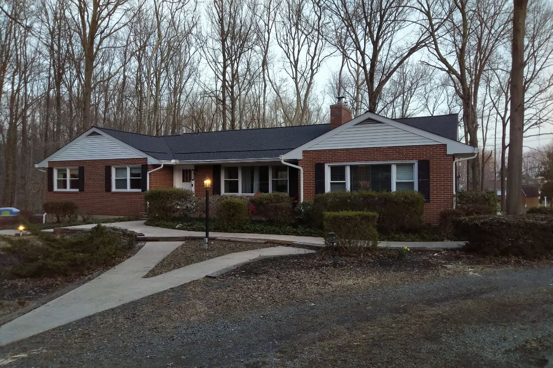 Havre de Grace, MD - Just finished up this roof replacement using CertainTeed Landmark Charcoal shingles and smart vent intake vents