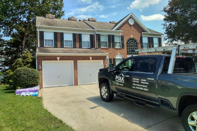 Bel Air, MD - Finished this roof replacement / roof installation job. In addition, window replacement.