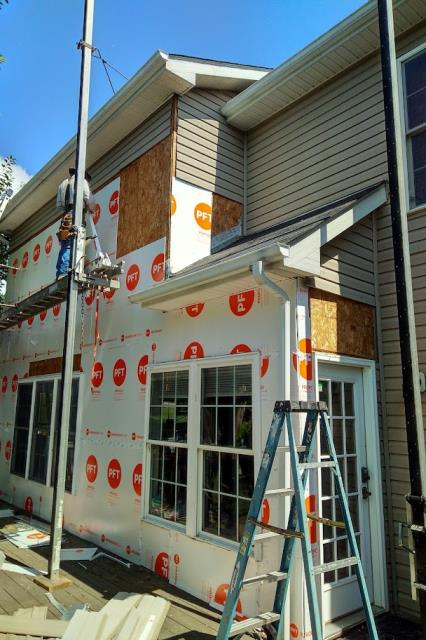 Street, MD - Complete siding installation - client is happy with their new siding.