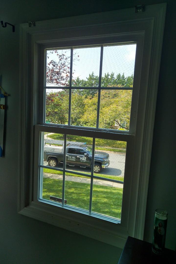Bel Air, MD - Installing windows in Bel Air this beautiful Saturday morning!