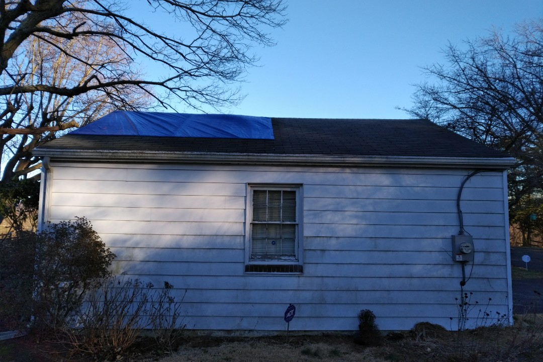 Darlington, MD - Tarping roofs