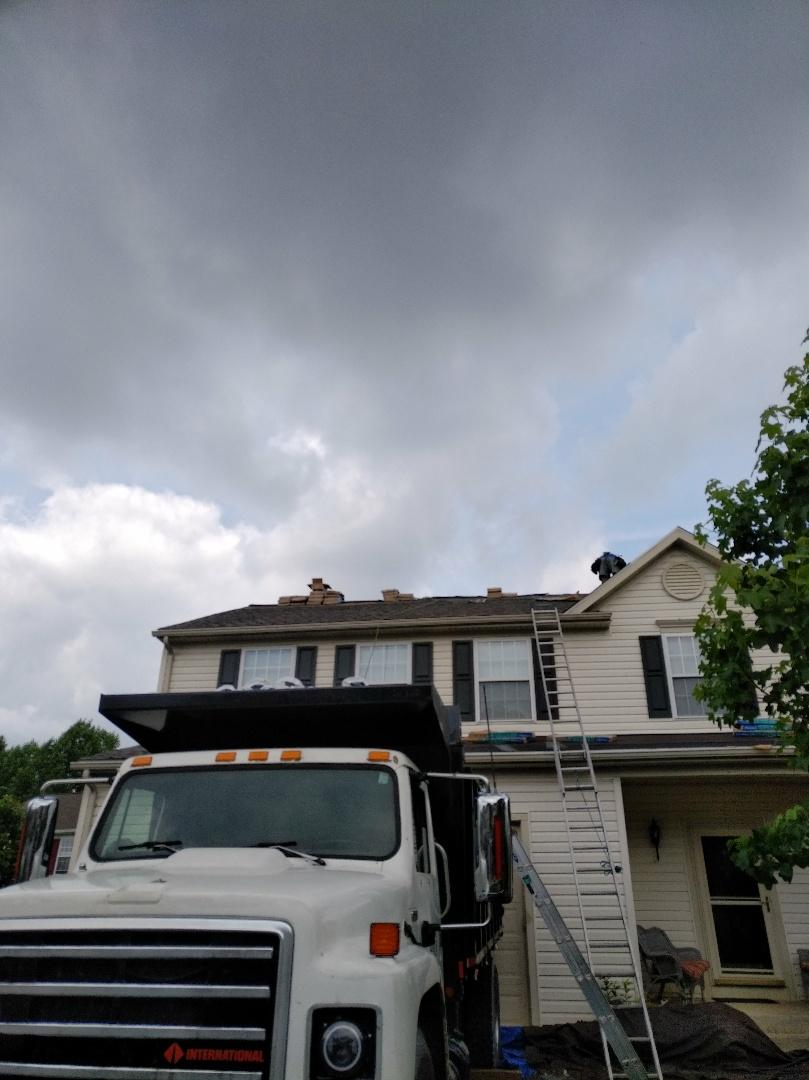Bel Air, MD - Roof replacement, Certainteed Landmark weatheredwwod