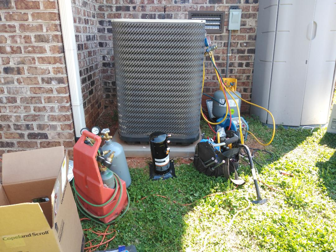 Newton, NC - Replacing a failed compressor