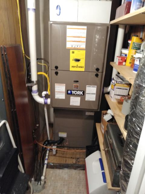 Hickory, NC - Follow-up on newly installed furnace and AC.