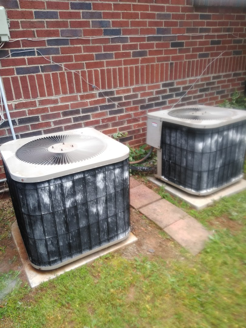 Newton, NC - Performing scheduled maintenance for maintenance priority plus customer in Newton on their two heat pump systems