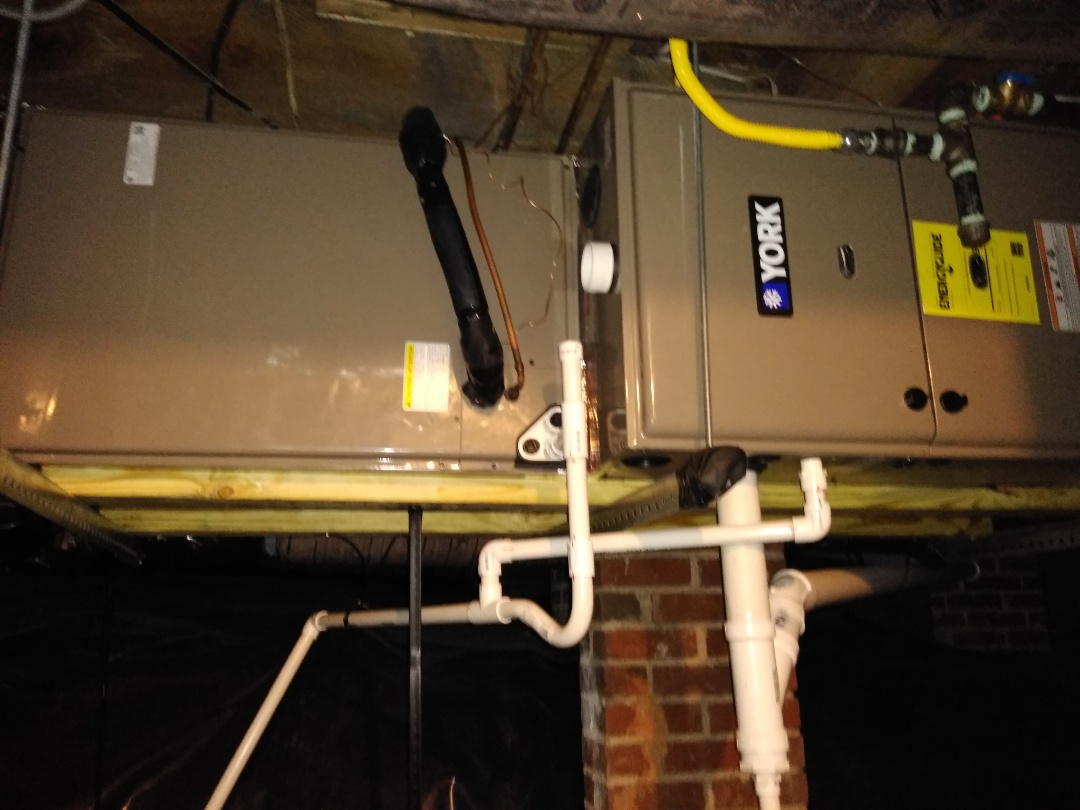 Hickory, NC - Installation of a new York gas furnace in Hickory.