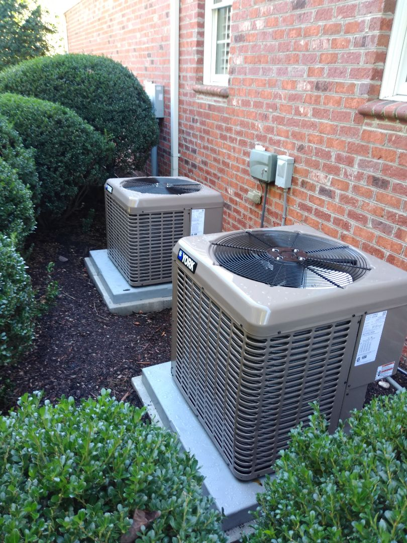 Hickory, NC - Installation of 2 York AC units in Hickory.