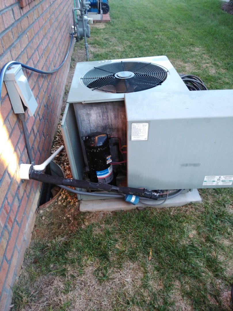 Hickory, NC - Performing scheduled maintenance for a maintenance plus program customer Northeast Hickory