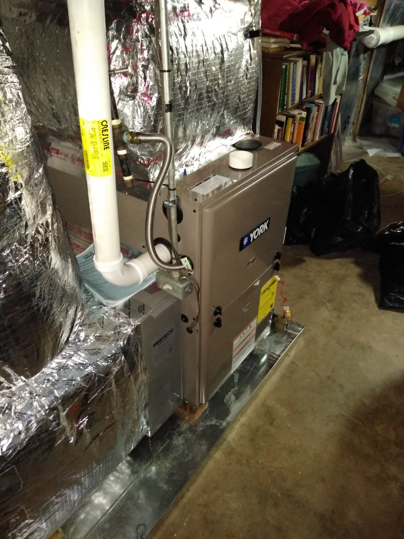 Hickory, NC - Newly installed gas furnace