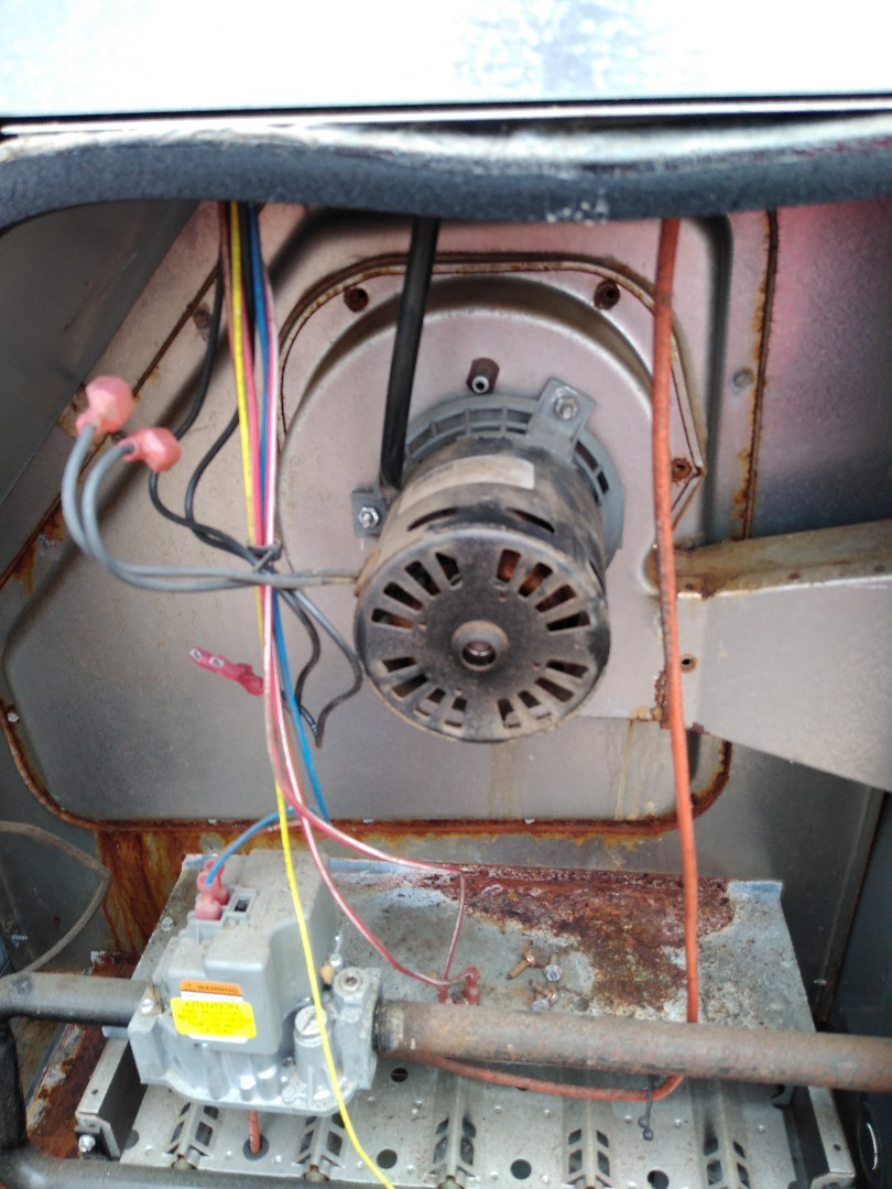 Denver, NC - Replacing a failed draft inducer on a gas pack.