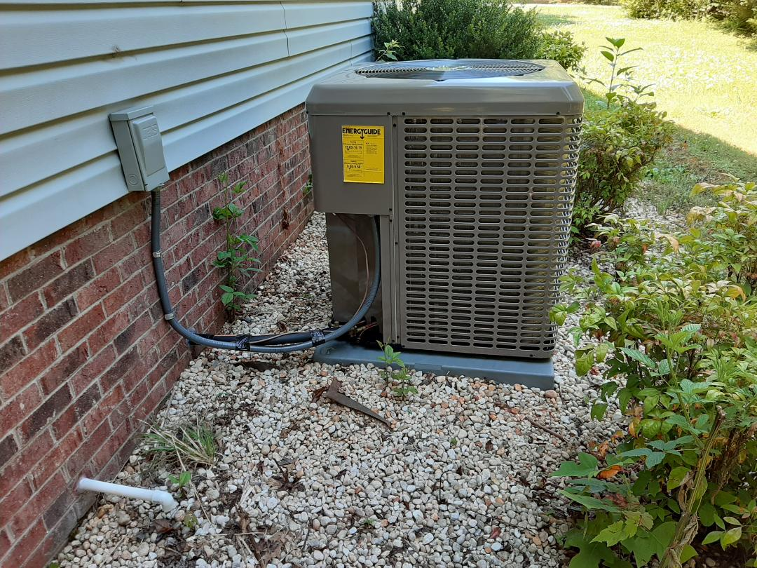 Conover, NC - Follow up following newly installed heat pump