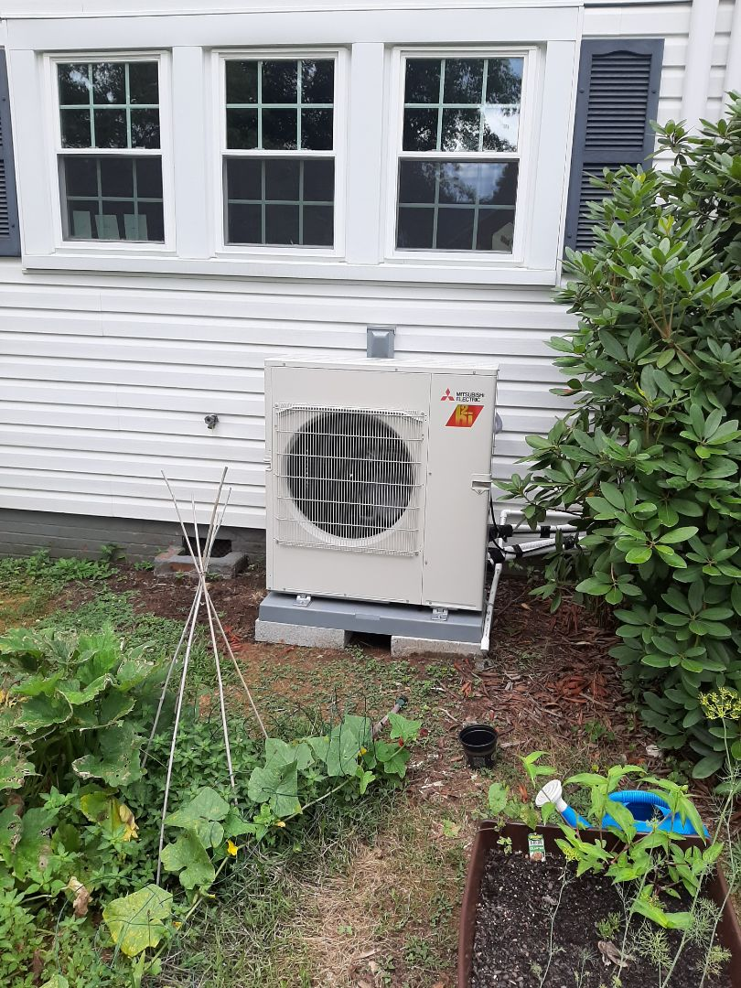 Lenoir, NC - Installation of a new Mitsubishi ductless heat pump in Lenoir.