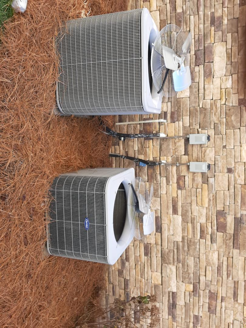 Denver, NC - Cleaning the two outdoor units for one of our MPP customers