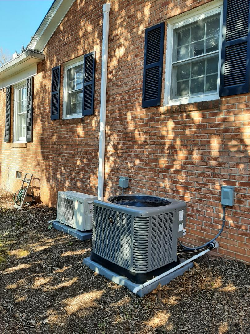 Hickory, NC - Installation of a new Ruud and Mitsubishi heat pump in Hickory.