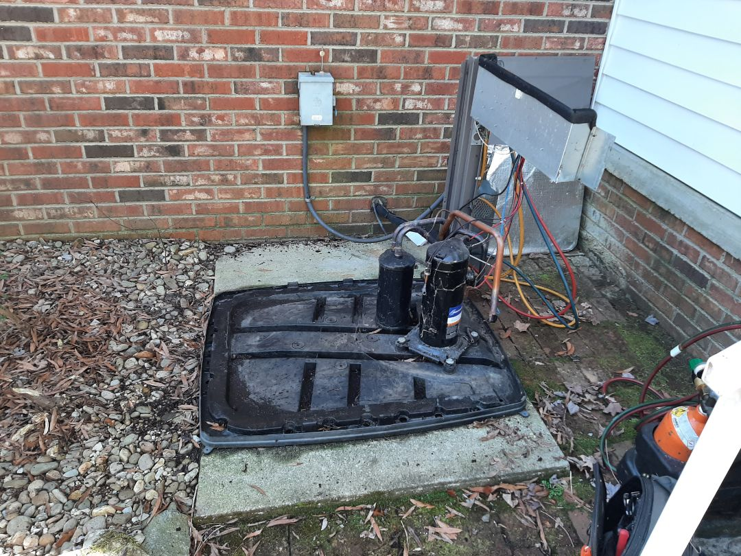 Morganton, NC - Replacing a leaking outdoor coil