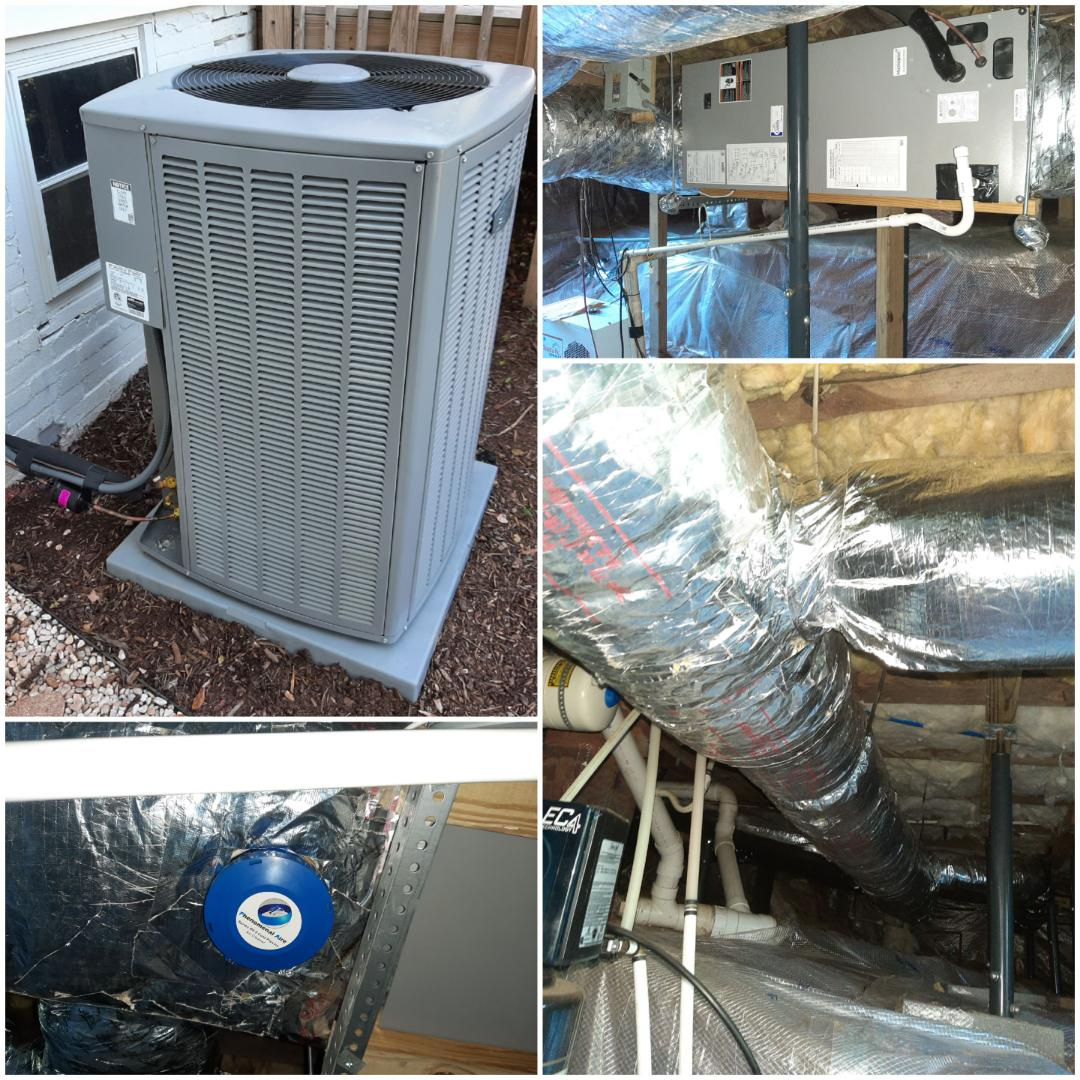 Hickory, NC - New heatpump and ductwork