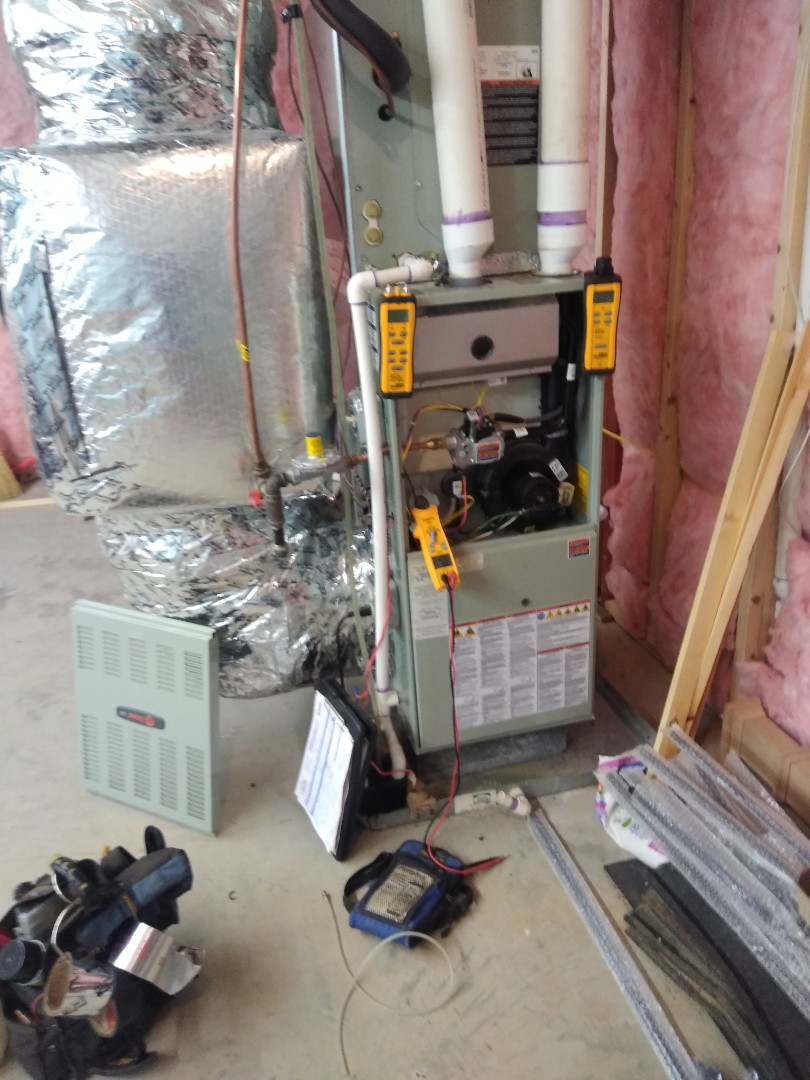 Morganton, NC - Performing maintenance and winter safety check on this customer's furnace in Morganton