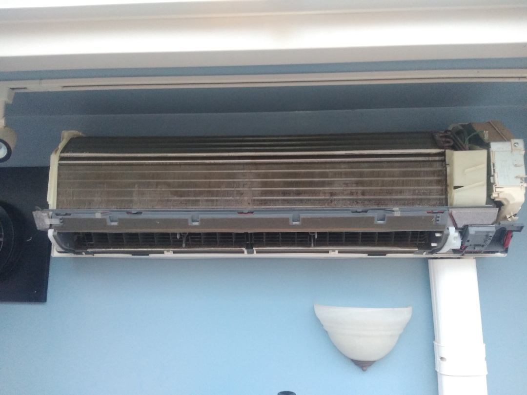 Hudson, NC - Performing maintenance on a ductless Mitsubishi mini-split in Hudson.