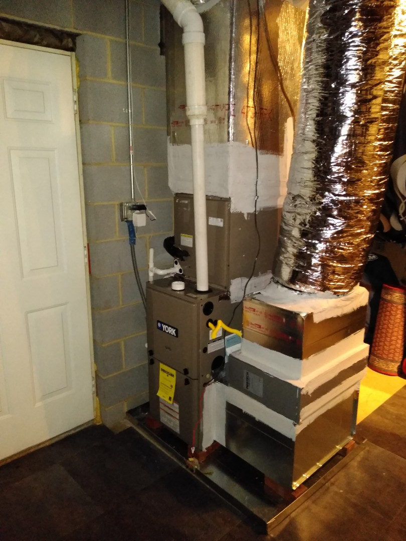 Conover, NC - Following up on on a newly installed gas furnace and a/c in Conover.