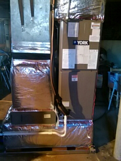 Claremont, NC - Installation of a new heat pump in Claremont