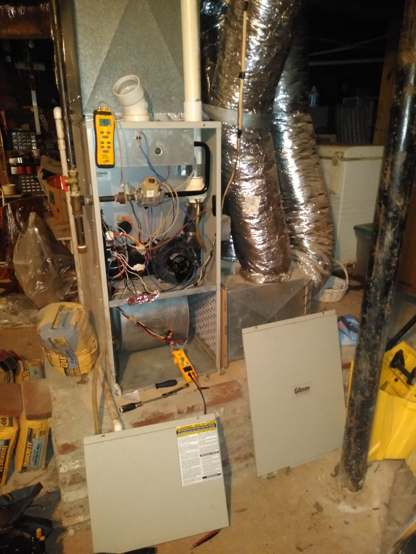 Newton, NC - Performing maintenance on a gas furnace / AC for a customer in Newton