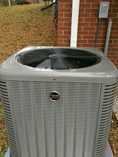Installation of a new heat pump in Taylorsville