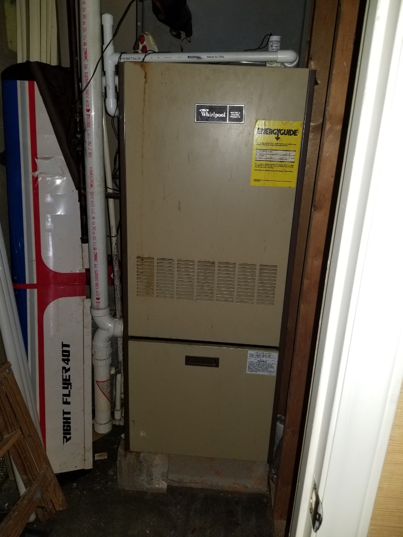 Preformed maintenance on a 1984 model gas furnace