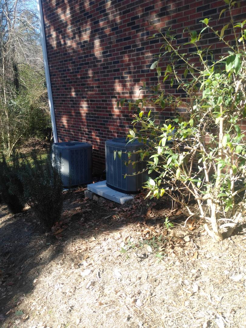 Hickory, NC - Performing scheduled maintenance on a two system heat pump for customer Northwest Hickory