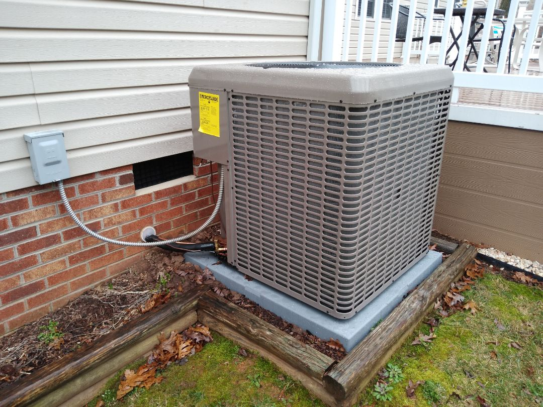 Hildebran, NC - Follow-up on newly installed heat pump system.