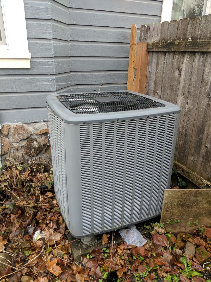 Service and cleaning on Goodman Heat pump