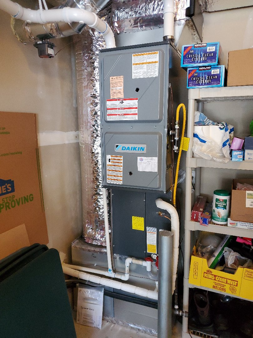 Battle Ground, WA - Performed a service and cleaning on a Daikin gas furnace and air conditioner. Comfort club annual maintenance agreement.